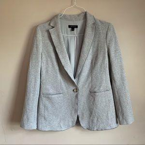 Light Gray Cotton blazer Lined tailored Ann Taylor